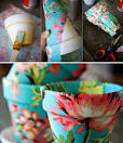 Как оформить горшок для цветов