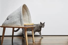 stylish cat furniture. Gray Cat Skulks Past Contemporary Furniture From Meyou | NONAGON.style Stylish E