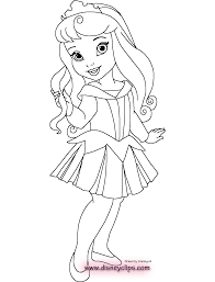 Small Picture Little Disney Princess Coloring Pages Coloring Home