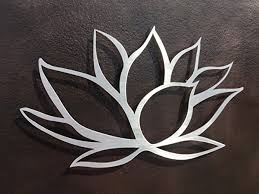 lotus flower brushed aluminum metal wall art on metal wall art amazon with amazon lotus flower brushed aluminum metal wall art handmade