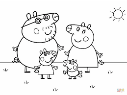 Small Picture Peppa Pigs Family coloring page Free Printable Coloring Pages
