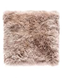 new zealand sheepskin rug square light brown