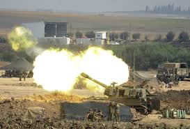 hamas agree to hour gaza cease fire com an i canon fires a 155mm shell towards targets in the gaza strip from their position