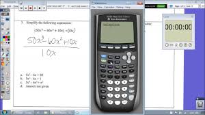 simplify polynomials using sto ti 84 calculator strategies tips tricks