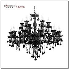 luxury large black glass chandelier lighting premium quality crystal res lamp for pendant with 18 arms md1003 chandelier shades small chandeliers from