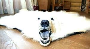white bear rug fake fur niture