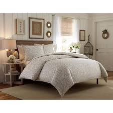 laura ashley victoria taupe 3 piece full queen duvet cover sets