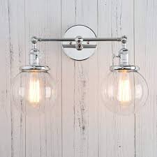 Double Sconce Bathroom Lighting Magnificent Permo Double Sconce Vintage Industrial Antique 48lights Wall Sconces
