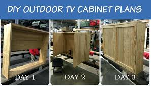 outdoor tv cabinet plans s outside diy furniture
