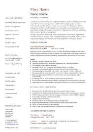 Examples Of Nursing Resumes Interesting Gnm Nursing Resume Format For Freshers Pdf Registered Nurse Template