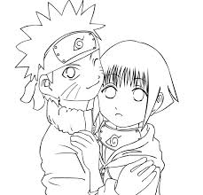 Small Picture Naruto and Hinata Coloring Pages Cartoon Coloring Pages