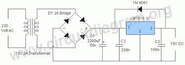 circuit diagram v dc power supply the wiring diagram 15v dc power supply using lm7815 ic circuit diagram wiring diagram