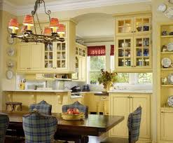 Red And Yellow Kitchen Traditional Kitchen With Yellow Kitchen Cabinet Paint Colors