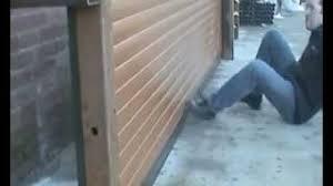 roller garage door security sws seceuroglide excel kick demonstration you