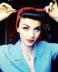 pinup hair makeup and clothes you can find in any closet