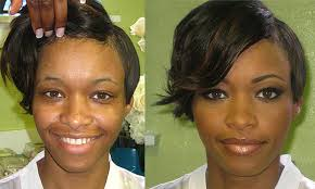 before and after bridal transformation