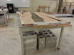 Making Cement Forms Cherry And Concrete Dining Table Concrete And Woods