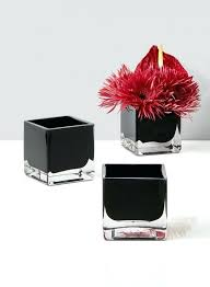 glass cube vase modern black glass square vase for fl centerpieces glass cube vase ikea