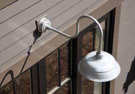 outdoor gooseneck lights silver