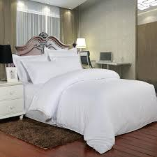 pure white satin cotton hotel bedding set 100 high quality 5 star hotel bed linen twin full queen king size bedding and comforters duvet covers from