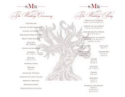 signatures by sarah wedding programs for liz the programs are single fold full sheet layout including a stock monogram cl017 thanks liz