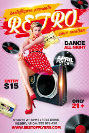 Free Flyer Retro Party Free Flyer Template For Old School Music Party Events