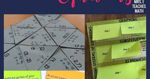 13 engaging ideas for teaching systems of equations mrs e teaches math