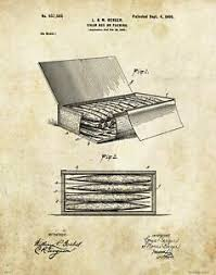 Its the first time i have. Vintage Cigar Box Patent Art Print Tobacco Smoking Shop Office Wall Decor Gift Ebay