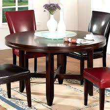 dining table with lazy susan built in dining table w lazy round contemporary dining table with