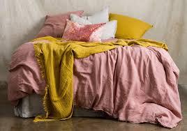 yellow linen duvet cover sweetgalas