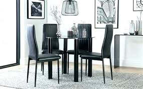 exotic glass dining sets 6 chairs round black glass dining table and chairs t imports furniture