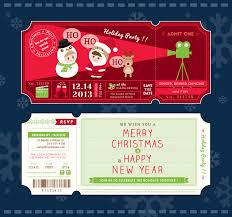 holiday prints parties promos team avalon new year s eve party invitation ticket vector christmas party ticket card design template