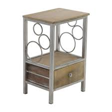 furniture wrought iron bedside table small patio side coffee with glass top tables nz vintage