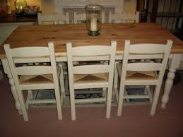 Pine Kitchen Table And Chairs Stunning Solid Pine Kitchen Dining Table 6 Chairs Annie Sloan