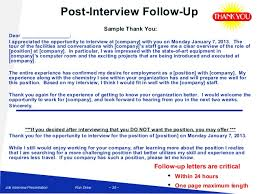 Follow Up Letter After Interview When You Haven T Heard Cover Letter