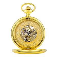 online get cheap mens pocket watch aliexpress com alibaba group new fashion steampunk skeleton mechanical gold pocket watch men vintage hand wind clock necklace pocket