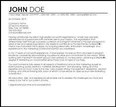 Non Profit Organization Cover Letters Sample Letter Of Non Profit