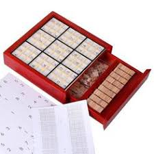 Wooden Sudoku Game Board Deluxe Wooden Sudoku Puzzle with Wooden Number and Thinking Tiles 34