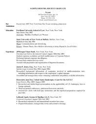 Recent College Graduate Resume Recent College Graduate Resume Fungramco 38