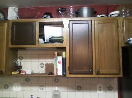 Staining Kitchen Cabinets Darker Stain Kitchen Cabinets Without Sanding Drawes Using Black Iron Cup
