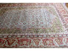 handmade persian design soft wool rug 9 x 12 light green