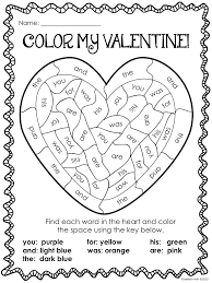 Valentines Day Color By Number Sheets Free Printable Valentine ...