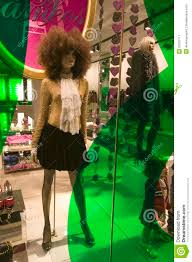 City Lights Clothing Store Fashion Displayed At Night With Colored Lights In Clothing