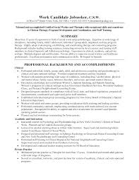 resume on work resume for study