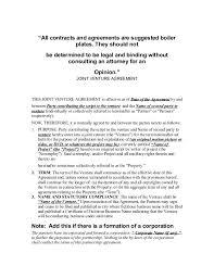 Sample Joint Venture Agreements. Sample Joint Venture Agreement ...