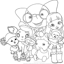 Disegno Di Ruby Arcobaleno Con I Suoi Amici Del Villaggio Arcobaleno