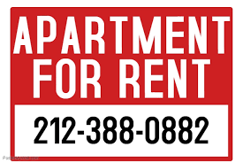 for rent sign template apartment for rent sign template postermywall