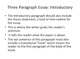 three paragraph essay three paragraph