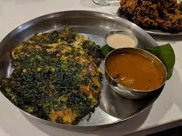 vegetable uttapam at chai pani in asheville