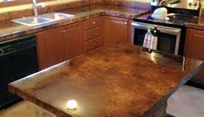 finish concrete countertop faux wood finish concrete countertops